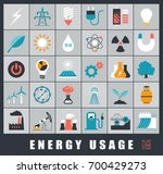 set of energy icons. various... | Shutterstock .eps vector #700429273
