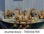 marine mooring equipment on... | Shutterstock . vector #700436704