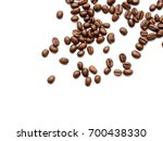coffee beans. isolated on white ... | Shutterstock . vector #700438330