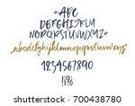 handwritten script font. brush... | Shutterstock .eps vector #700438780