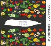 vector hand drawn vegetables... | Shutterstock .eps vector #700444630