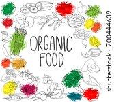 vector hand drawn vegetables...   Shutterstock .eps vector #700444639