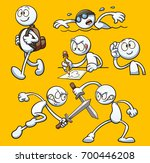 generic cartoon character... | Shutterstock .eps vector #700446208