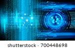 binary circuit future...   Shutterstock . vector #700448698