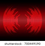 sound waves oscillating dark... | Shutterstock .eps vector #700449190