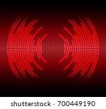 sound waves oscillating dark... | Shutterstock .eps vector #700449190