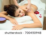massage and body care. spa body ... | Shutterstock . vector #700450948