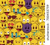emoticon background  | Shutterstock .eps vector #700453759