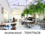 blurred restaurant cafe  white... | Shutterstock . vector #700470628