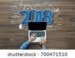 2018 new year business success  ...   Shutterstock . vector #700471510