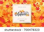 autumn sale background layout... | Shutterstock .eps vector #700478323