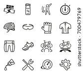 preparing yourself for a bike... | Shutterstock .eps vector #700479769