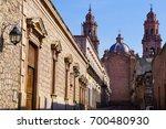 colonial streetscape of morelia ... | Shutterstock . vector #700480930