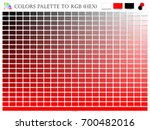 color palette mixer 3 color ... | Shutterstock .eps vector #700482016