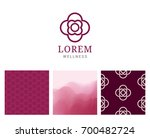 spa logo with background pink... | Shutterstock .eps vector #700482724