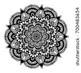 mandalas for coloring book.... | Shutterstock .eps vector #700483654