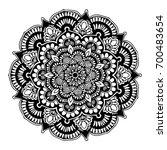 mandalas for coloring book.... | Shutterstock .eps vector #700483654