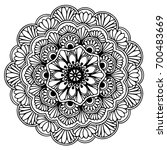 mandalas for coloring book.... | Shutterstock .eps vector #700483669