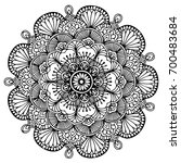 mandalas for coloring book.... | Shutterstock .eps vector #700483684