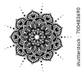 mandalas for coloring book.... | Shutterstock .eps vector #700483690