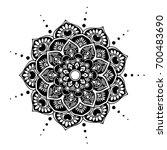 mandalas for coloring book.... | Shutterstock .eps vector #700483690