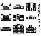 building icons set. vector... | Shutterstock .eps vector #700488034