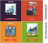 set of research laboratories... | Shutterstock . vector #700490629
