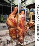 the hot grilled chicken on the... | Shutterstock . vector #700494460