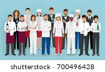 restaurant team concept in... | Shutterstock .eps vector #700496428