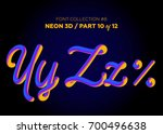 neon 3d typeset with rounded... | Shutterstock .eps vector #700496638