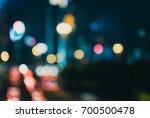 blur image of hong kong night... | Shutterstock . vector #700500478