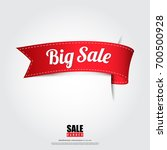 sale banner in red ribbon... | Shutterstock .eps vector #700500928