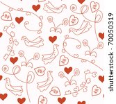 seamless red romantic pattern... | Shutterstock .eps vector #70050319
