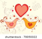 valentine card with birds in... | Shutterstock .eps vector #70050322