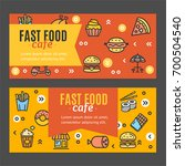 fastfood and street food flyer... | Shutterstock .eps vector #700504540