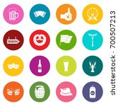 oktoberfest icons many colors... | Shutterstock .eps vector #700507213