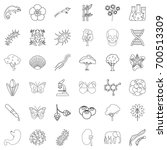 biology icons set. outline... | Shutterstock .eps vector #700513309