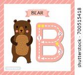 letter b uppercase cute... | Shutterstock .eps vector #700515418