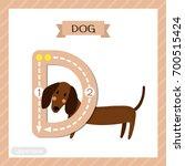 letter d uppercase cute... | Shutterstock .eps vector #700515424