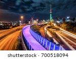 auckland city night skyline... | Shutterstock . vector #700518094