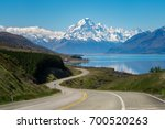 road to mt cook  the highest... | Shutterstock . vector #700520263
