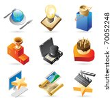 concept icons for media and... | Shutterstock . vector #70052248