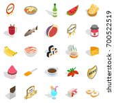 pulverize icons set. isometric... | Shutterstock .eps vector #700522519