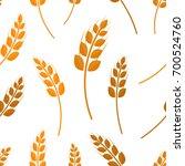 vector flat seamless pattern of ... | Shutterstock .eps vector #700524760