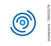 abstract circle logo template | Shutterstock .eps vector #700525174