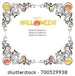 happy halloween  celebration... | Shutterstock .eps vector #700529938