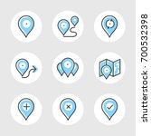 simple set of navigation... | Shutterstock .eps vector #700532398