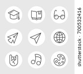simple set of education vector... | Shutterstock .eps vector #700532416