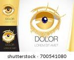 abstract golden eye.fashionable ... | Shutterstock .eps vector #700541080