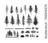 Vector Collection Of Pines ...